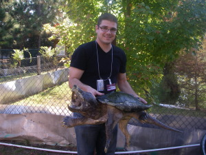 steve with alligator snapper
